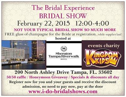 """I Do"" Bridal Show at the Sheraton Tampa Riverwalk | February 22, 2015"