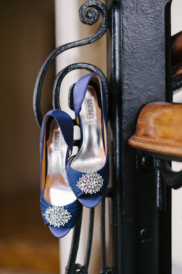 Blue Badgley Mischka Wedding Shoes