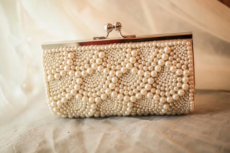 Pearl Wedding Purse Clutch