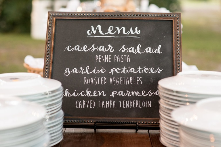 Wedding Chalkboard Dinner Menu