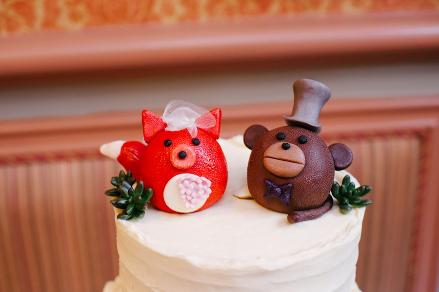 Whimsical Wedding Cake Topper