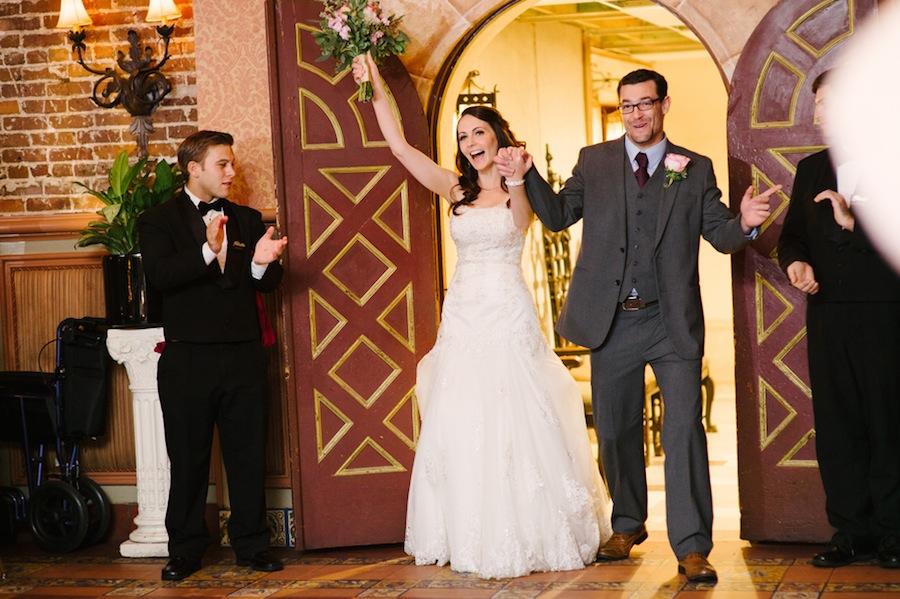 Bride and Groom Wedding Reception Entrance | Ybor City The Columbia Wedding Reception