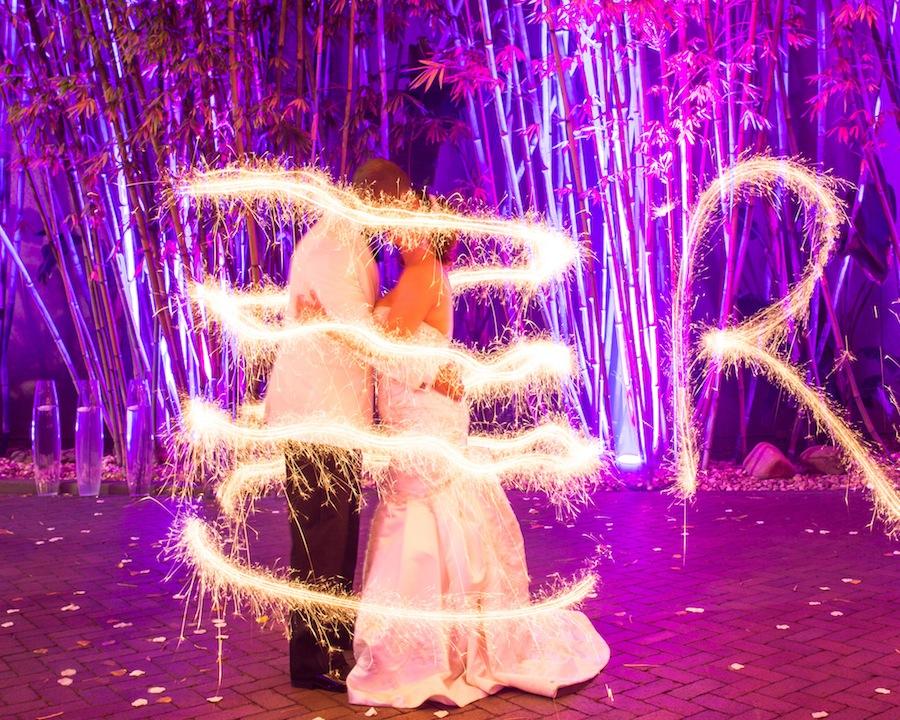 Bride and Groom Sparkler Wedding Photo | Rad Red Creative