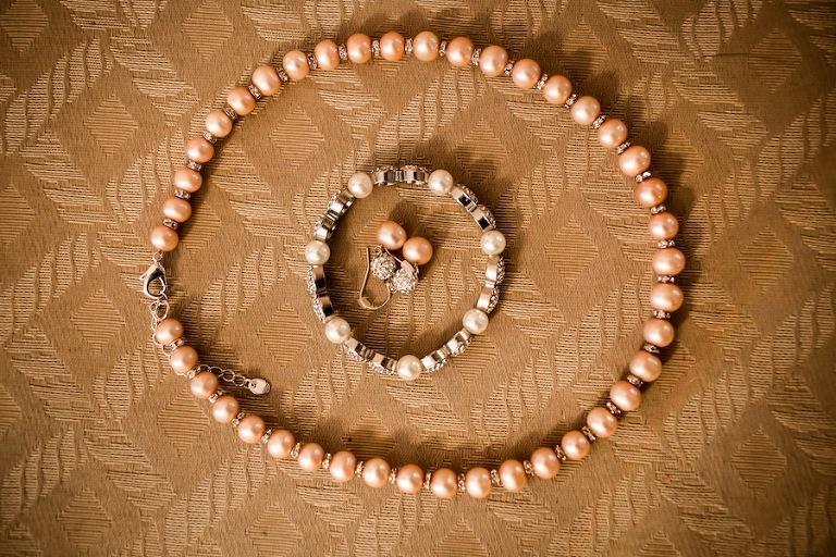 Pink Pearls Wedding Jewlery