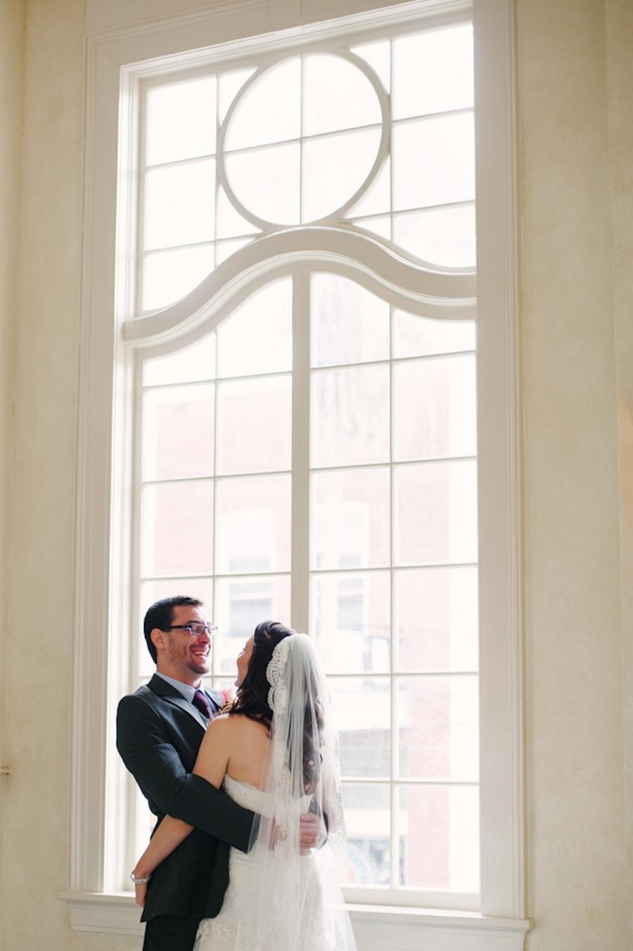 The Italian Club Wedding Bride & Groom Portrait | Marissa Moss Photography