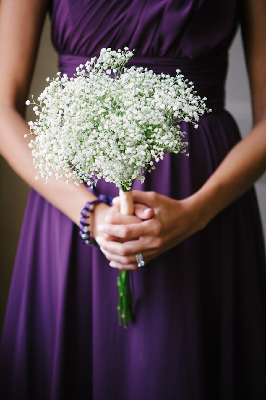 White Baby's Breath Wedding Bouquet