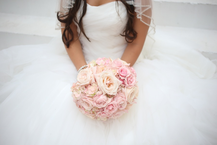 Pink Rose Wedding Bouquet | Northside Florist