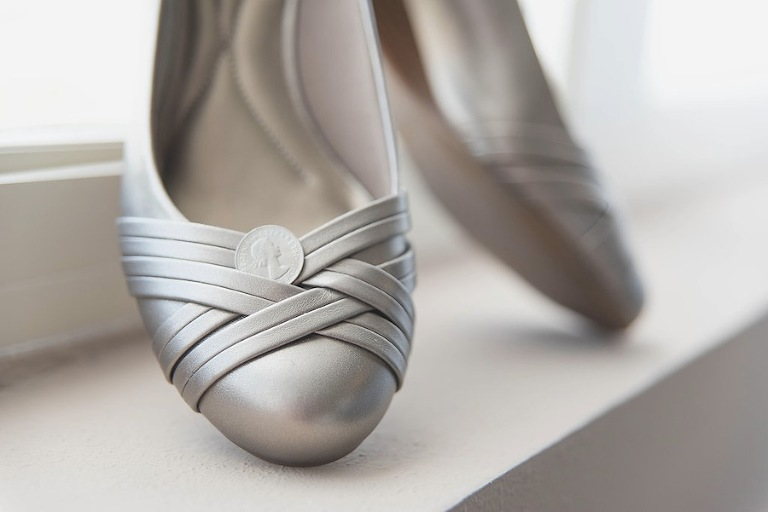 Silver Wedding Shoes | Flats
