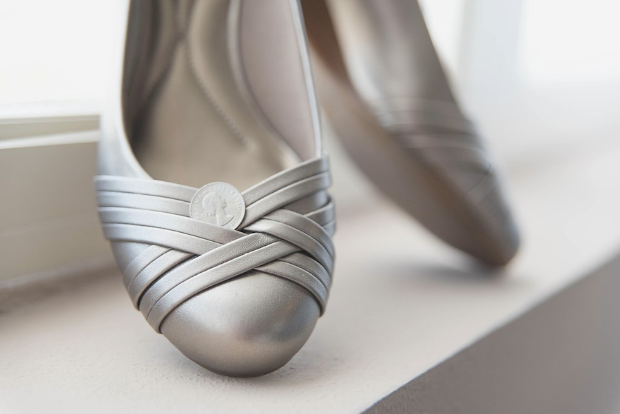 Silver Wedding Shoes   Flats