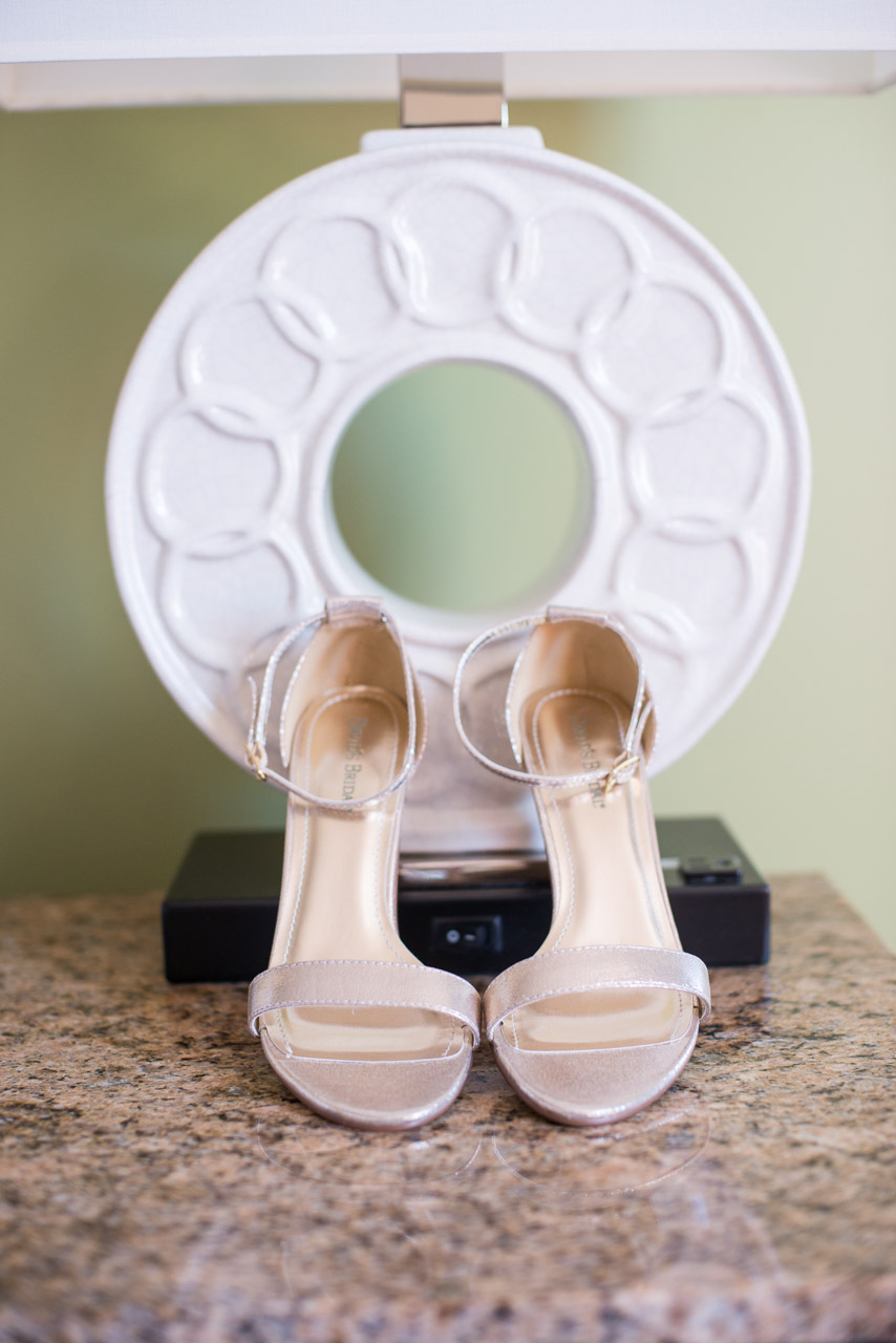 Nude Open Toed Wedding Shoes