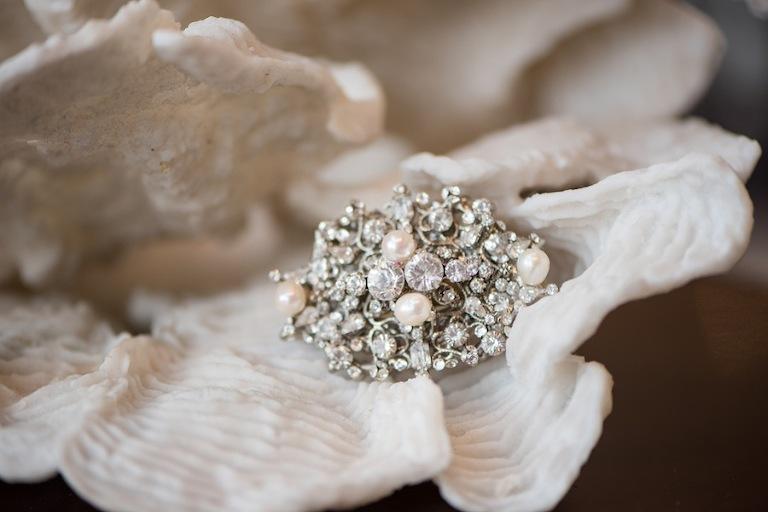 Rhinestone Diamond Wedding Hair Brooch
