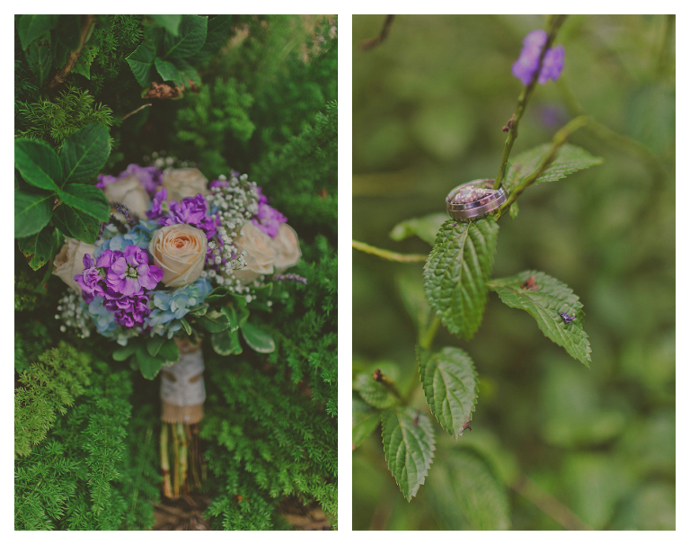 Pastel Pink and Purple Wedding Bouquet