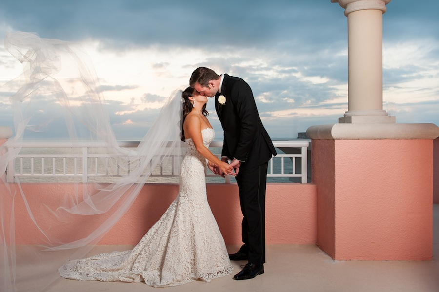 Clearwater Beach Rooftop Wedding Portrait | Sarah & Ben Photography