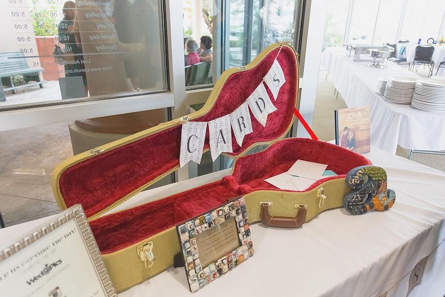 Guitar Case Wedding Card Box