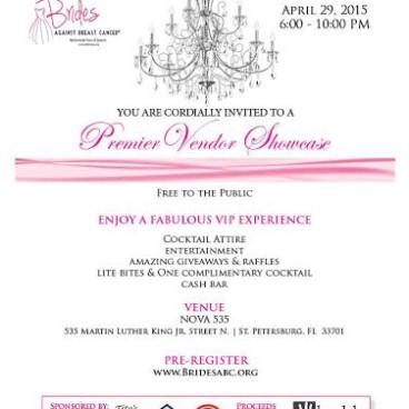 Brides Against Breast Cancer Wedding Show at NOVA 535   April 29, 2015