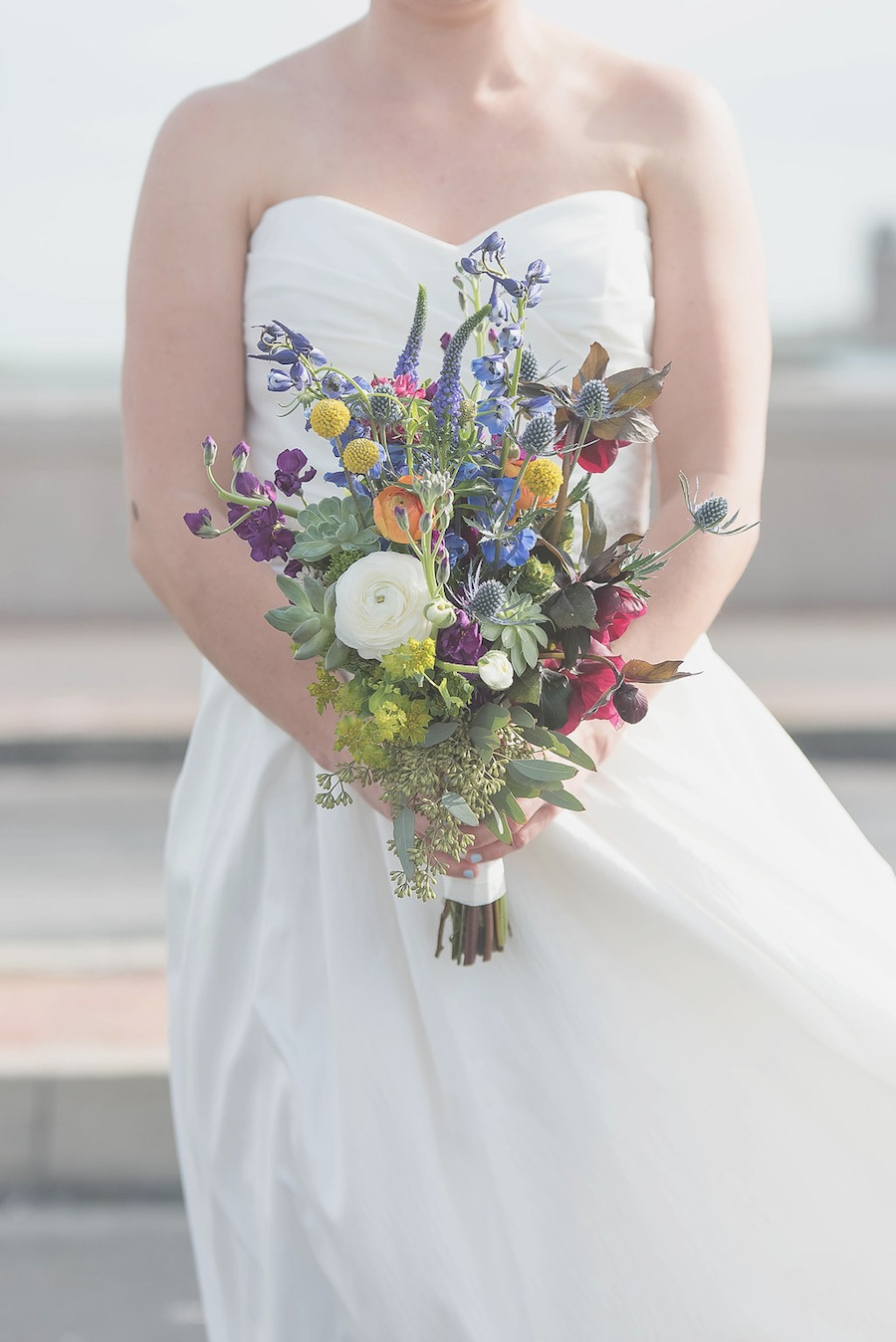 Spring, Garden Wedding Bouquet