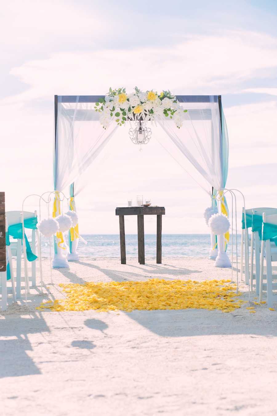 Pass-A-Grille Beach Wedding | Yellow & Tiffany Blue Wedding