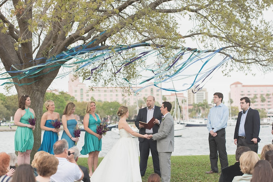 Outdoor, Downtown St. Pete Wedding Ceremony