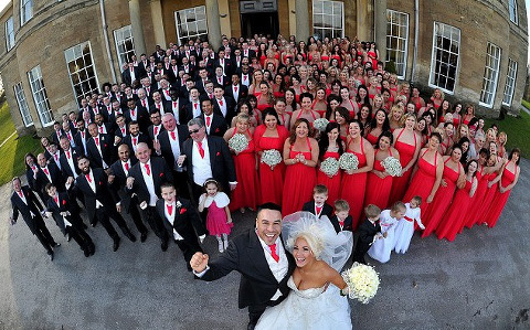 U.K. Couple Breaks World Record for Most Bridesmaids