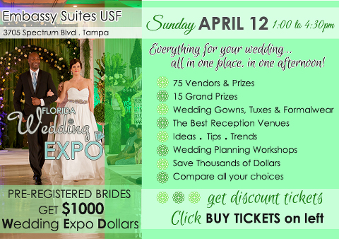 Wedding Caterer | Florida Wedding Expo | Sunday, April 12, 2015, Embassy Suites USF Tampa