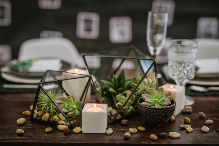 Succulent Wedding Centerpieces   Tampa Wedding Florist: Florist Fire