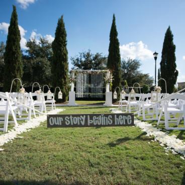 Outdoor Tampa Wedding Ceremony   Palmetto Club Wedding