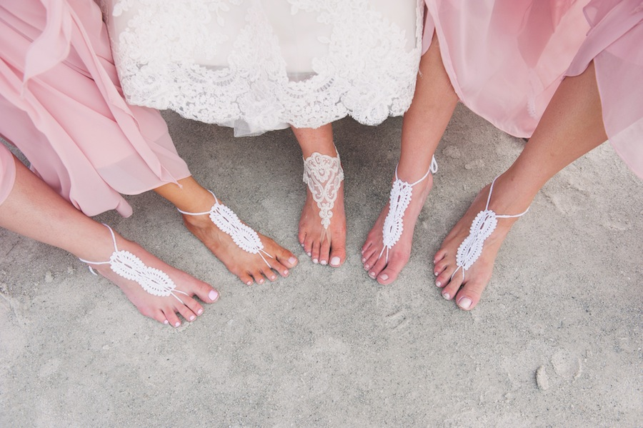 Bride and Bridesmaid Barefoot Beach Wedding Foot Jewelry