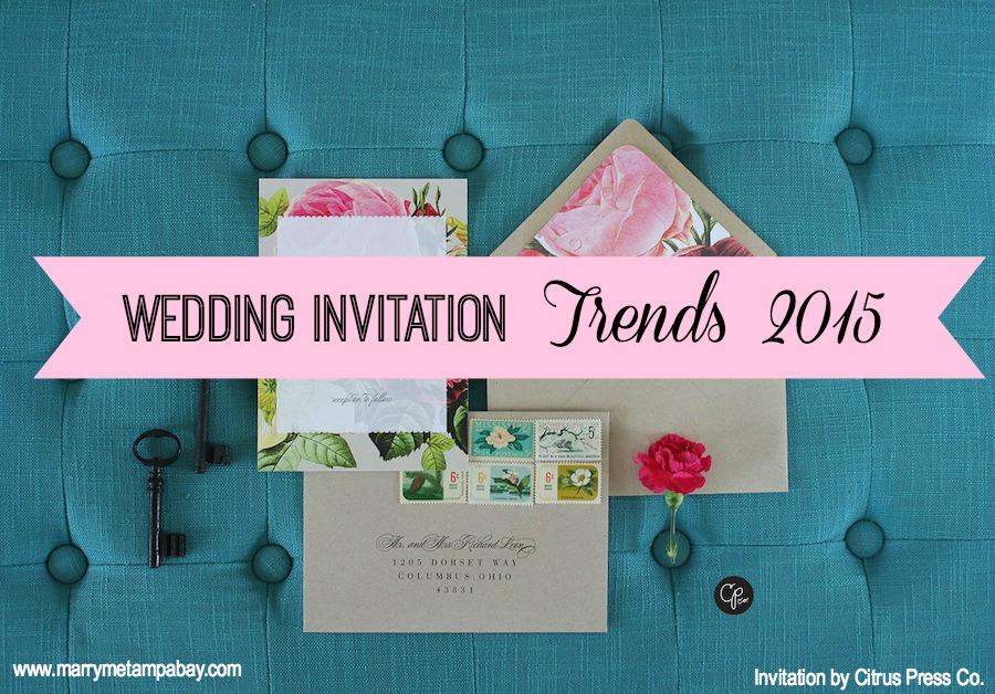 Wedding Invitation Trends 2015 | Tampa Bay Wedding Stationary