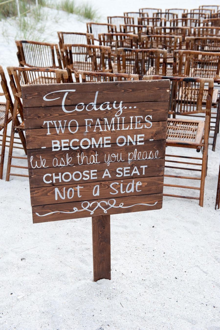 Wooden Beach Wedding Sign Decor