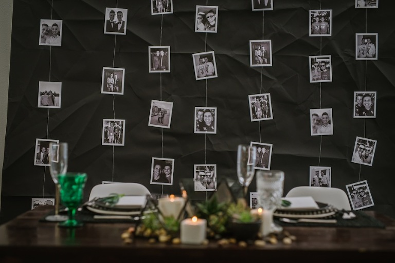 Photograph Memory Wall | Picture Curtain for Wedding Sweetheart Table