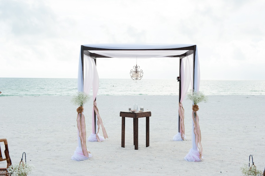 Treasure Island-St. Pete Beach Wedding with Wooden Bamboo Altar