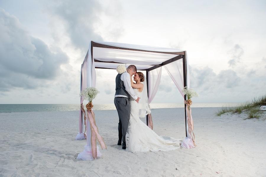 Bride and Groom Wedding Portrait | St. Pete Beach Wedding Photographer Essentia Photography