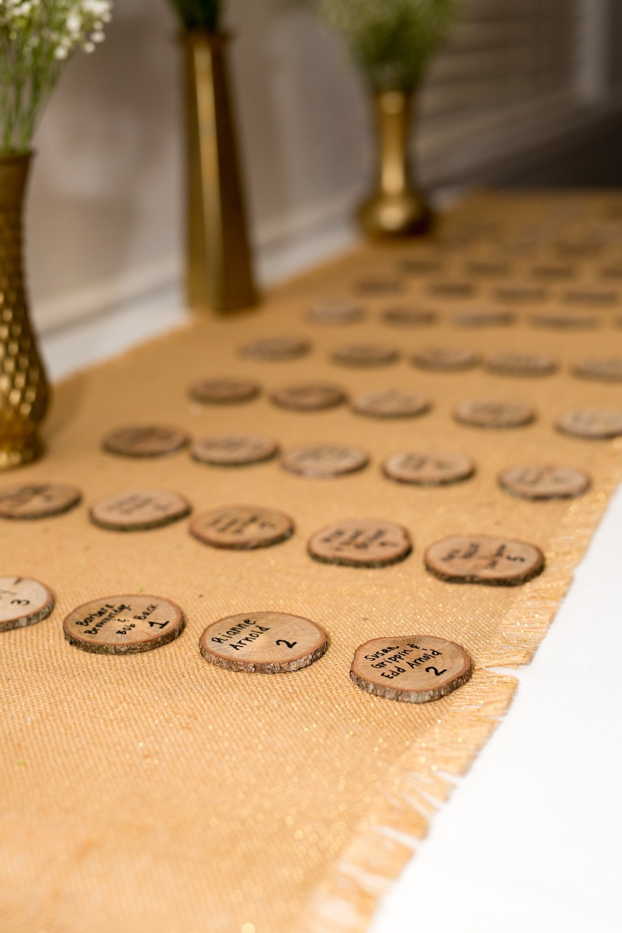 Wooden Wedding Seating Chart Cards