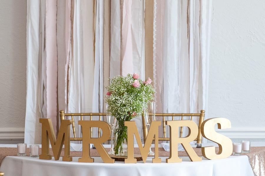 Gold Sweetheart Wedding Table