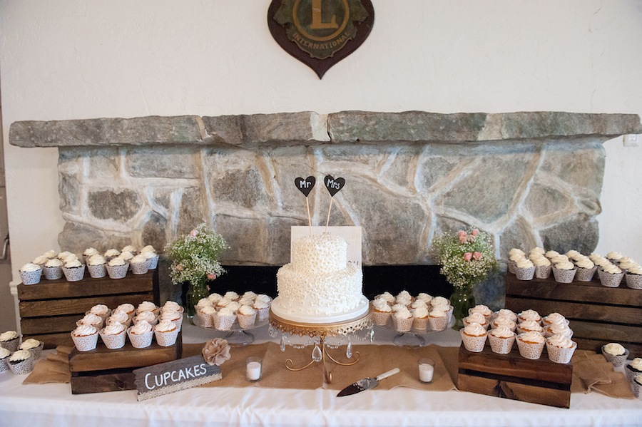 Wedding Dessert Cake and Cupcake Table