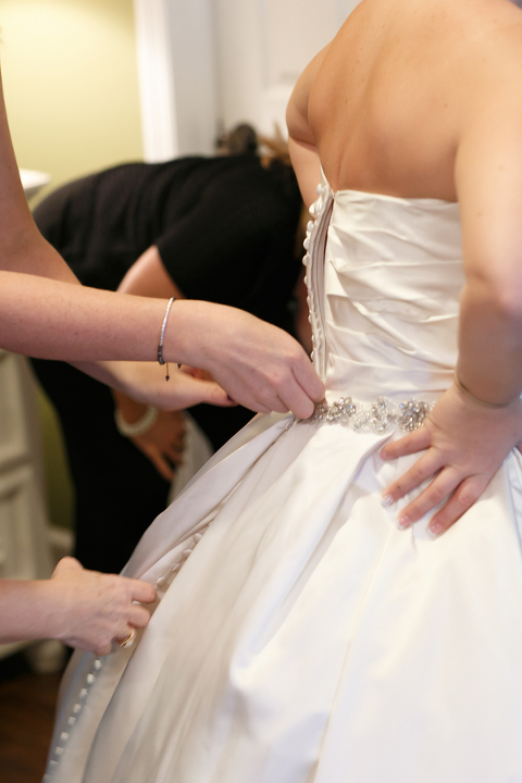 Bride Getting Ready on Wedding Day | Putting on Wedding Dress