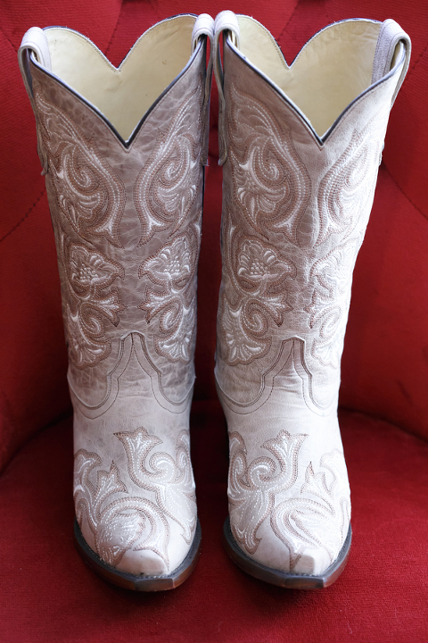 White Wedding Cowboy Boots | Bride in Boots