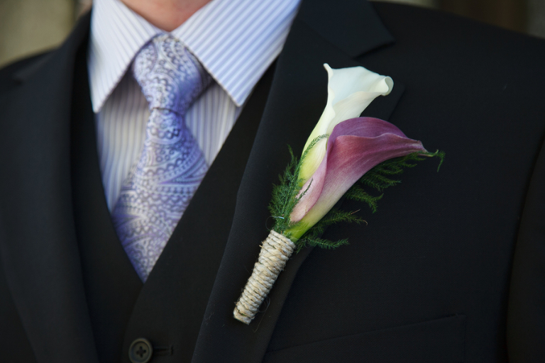 Cala Lily Wedding Groom Boutonniere