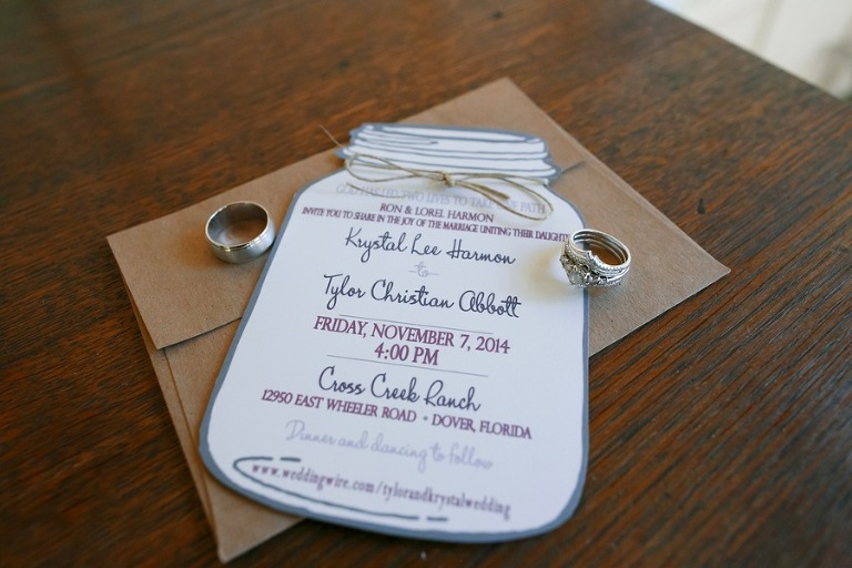 Mason Jar Wedding Invitation | Rustic Wedding Invite