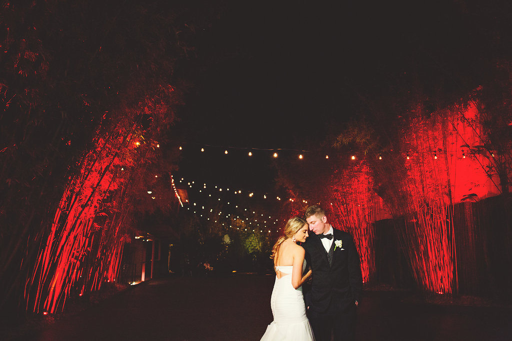 Downtown St. Pete Bride and Groom Wedding Portrait | NOVA 535 Wedding Reception Venue