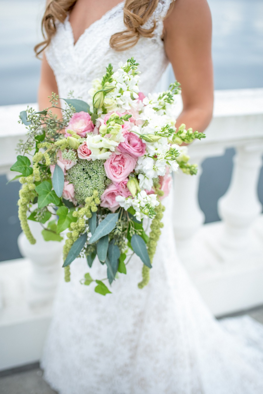Pastel Pink and Greenery Wedding Bouquet | Tampa Wedding Florist Apple Blossoms Floral Design