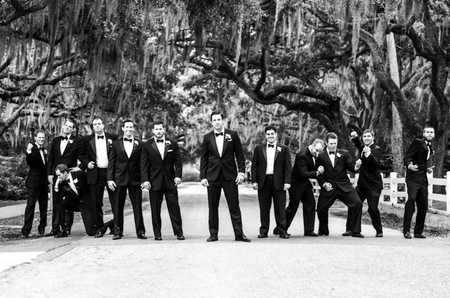 South Tampa Wedding   Groomsmen Portrait by Caroline & Evan Photography