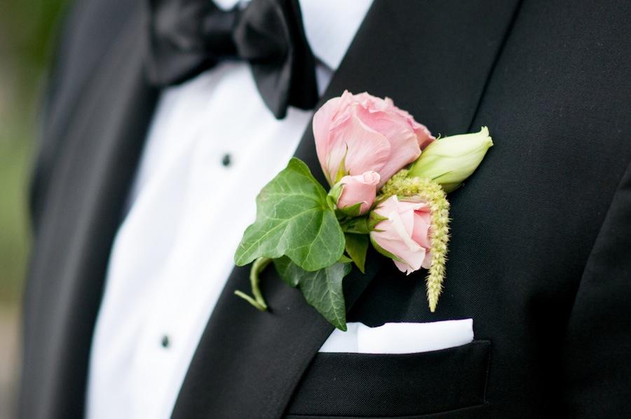 Pink Rose Boutonniere   Tampa Wedding Florist Apple Blossoms Floral Design