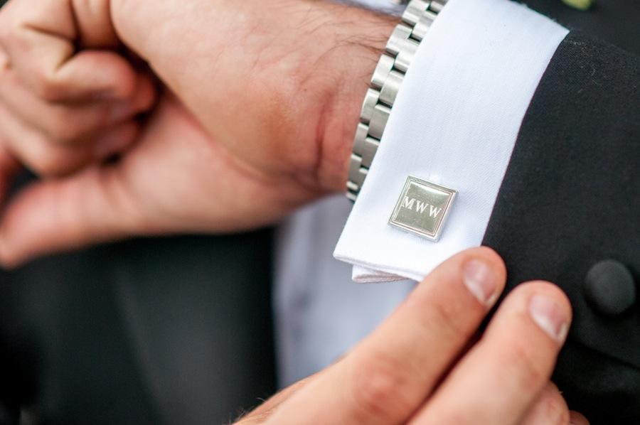 Groom's Monogrammed Wedding Cufflinks