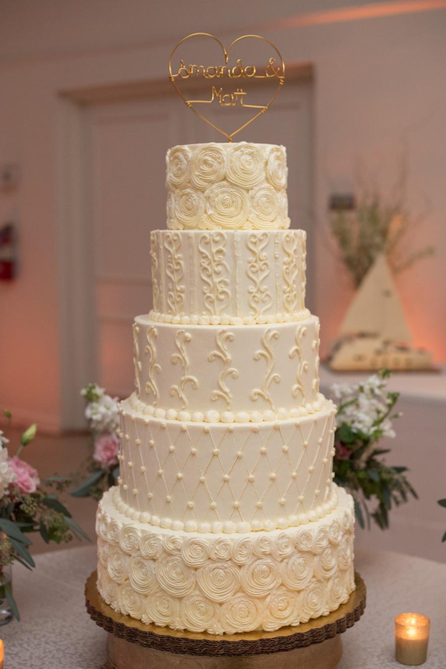 5-Tier Round Wedding Cake