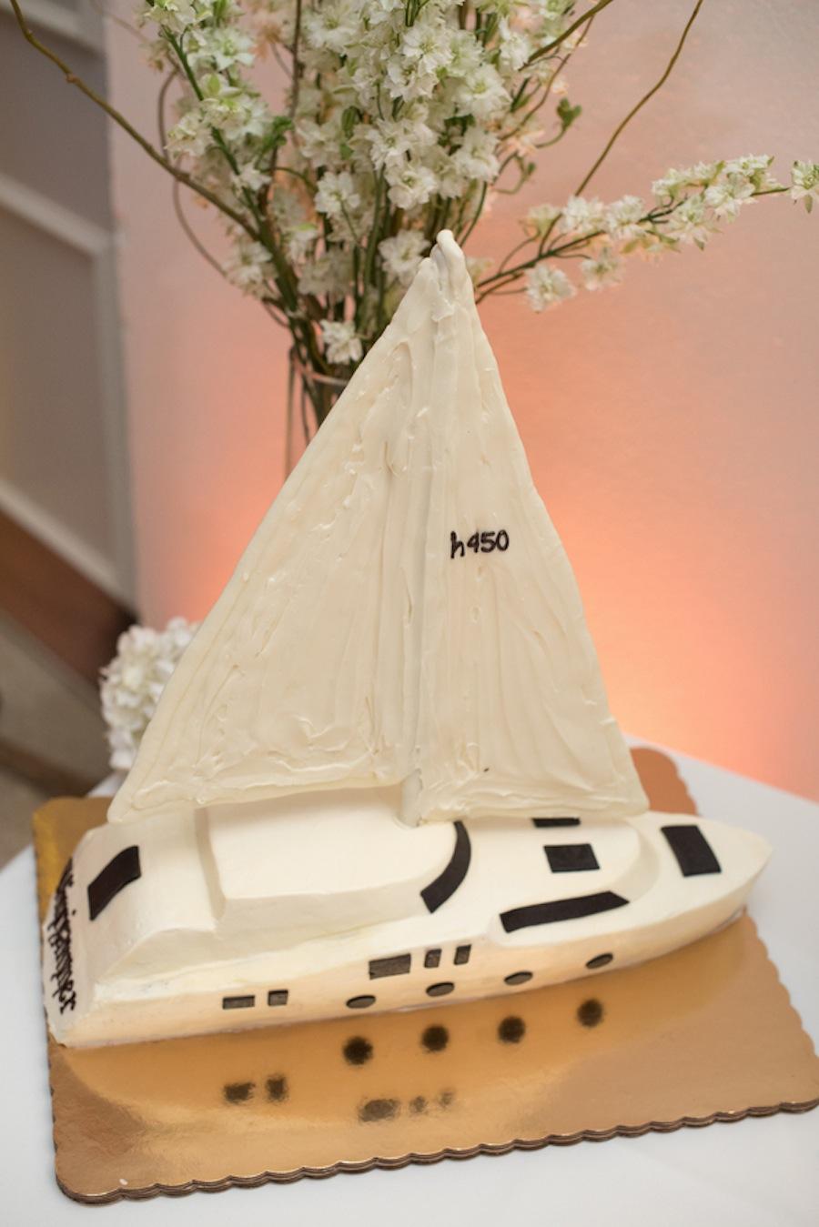 Sailboat Groom's Wedding Cake