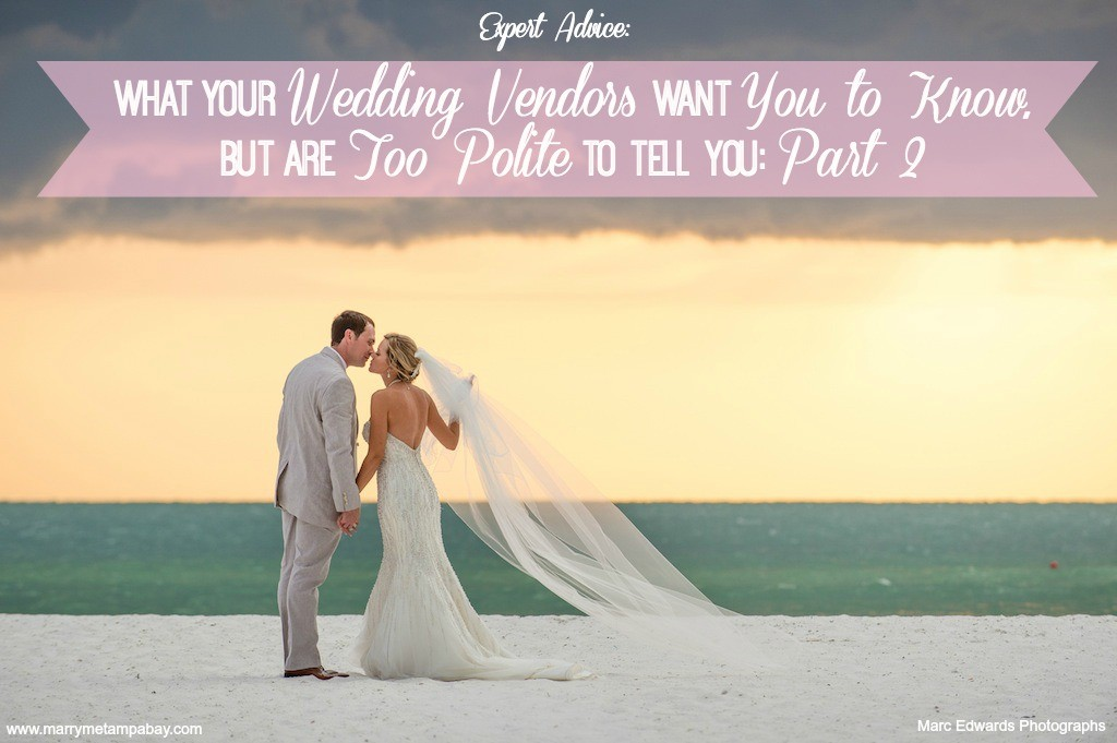 Expert Wedding Planning Advice from Top Tampa Bay Wedding Vendors