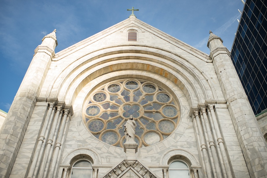 Sacred Heart Catholic Church Wedding | Downtown Tampa