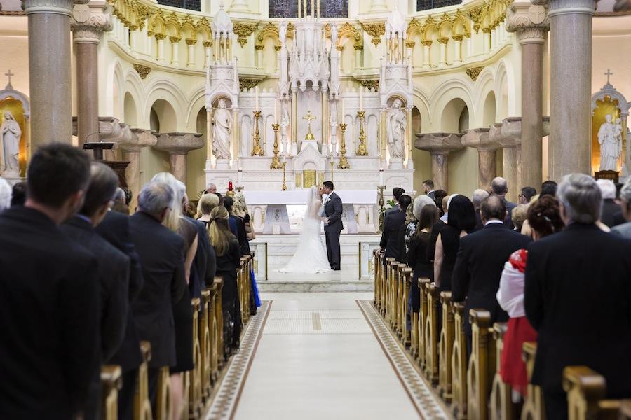 Sacred Heart Catholic Church Wedding Ceremony | Downtown Tampa