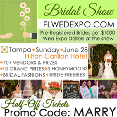 Florida Wedding Expo St. Pete Bridal Show| June 28, 2015